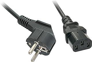 LINDY 30337 IEC 电源线 5 米 Schuko - 角度。IEC320C13