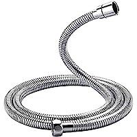 GRIFEMA G851-18 扭转保护淋浴软管,1.8 米,通用淋浴软管,不锈钢,银色