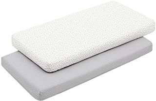 Cambrass 46125 2 Fitted Sheet - Cot 70 70 x 140 x 1 厘米 森林灰,灰色