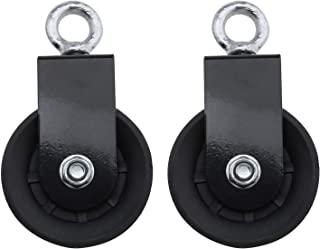 2 x 90 毫米单旋转滑轮积木,带 U 安装支架 360 度旋转牵引轮,适用于 DIY 家庭健身设备