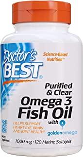 Doctor's Best 精制纯净Omega 3鱼油,无反流,有益于心脏,双眼,大脑和关节