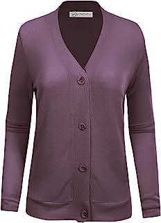 BIADANI 女式经典柔软长袖开襟羊毛衫