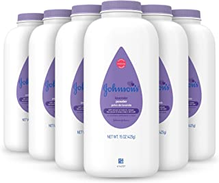 Johnson's Baby Powder, Calming Lavender & Chamomile, 15 Ounce (Pack of 6)