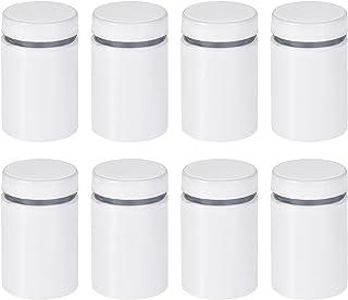 uxcell 3/4 英寸直径x 1-1/4 英寸(19x32 毫米)立式螺丝壁挂标志支架亚克力玻璃钉白色 8 件