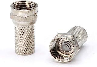 同轴电缆压缩管接头/连接器 - 适用于 RG6 同轴电缆 - 带天气密封 O 环和水紧握把CMP-CONN-SCRW-100P 100 Pack