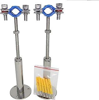 不锈钢壁挂式天花板安装管支架,可调节管支架夹管带,适用于直径 19 毫米(1/2 英寸)管扩展类型,2 件套