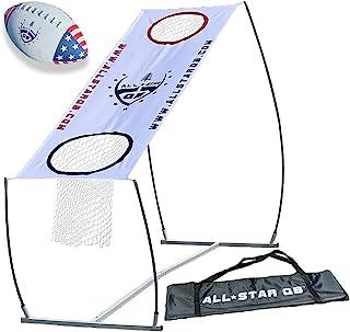 All Star QB LITE 足球投掷网游戏套装,训练和练习设备 - 易于设置和游戏玩法,非常适合儿童和成人。提高 QB 投掷准确度。非常适合任何户外游戏和海滩