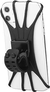 Fanglcy 自行车手机支架,可拆卸 360° 旋转通用硅胶自行车手机支架,兼容手机 iPhone 11/Pro/XS/MAX/XR/X/7/8/Plus,4.0''~6.7'' 手机