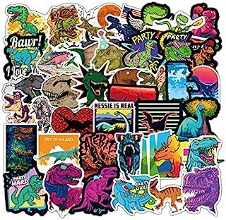100 件男孩恐龙贴纸儿童恐龙贴纸水瓶恐龙乙烯基贴纸笔记本电脑防水贴纸