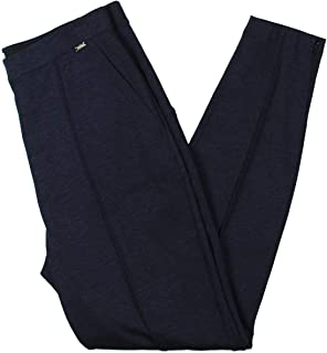 St. John Sport 女式混色弹力罗纹针织七分裤深蓝色