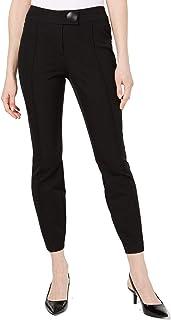 Alfani 女式裤子黑色 4X28 纽扣紧身腿舒适弹力