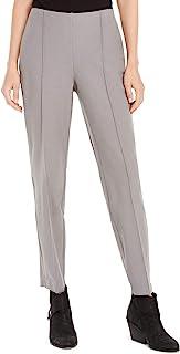 Eileen Fisher 女式小号细褶前弹力及踝裤烟灰色 L 码