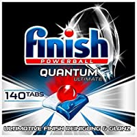 Finish Quantum Ultimate 洗碗机用洗涤块 不含磷酸盐 三重清洁/强力洁净/溶解油污/光泽餐具,14…