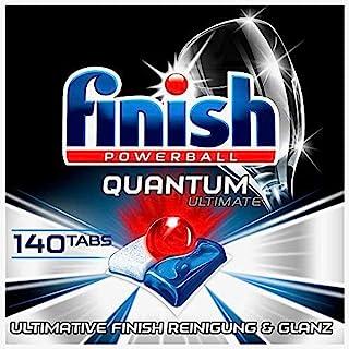 Finish Quantum Ultimate 洗碗机用洗涤块 不含磷酸盐 三重清洁/强力洁净/溶解油污/光泽餐具,140片超值装