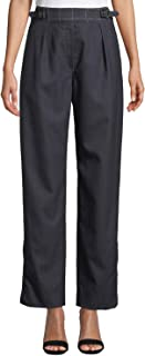 rag & bone 女士 James 直筒格子羊毛裤 休闲裤 深蓝色/多色
