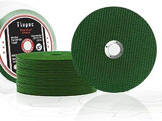 切割轮 10/25/50/100 件,Tinpec 4 英寸切割盘高级锋利型*力切割角磨轮,带双玻璃纤维网,用于不锈钢金属木材塑料 (50)
