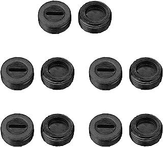 10 件 13 毫米 OD 外螺纹塑料电机碳刷支架盖黑色