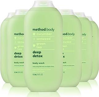 Method 沐浴露,深层排毒,18 液量盎司/532毫升,6 件装
