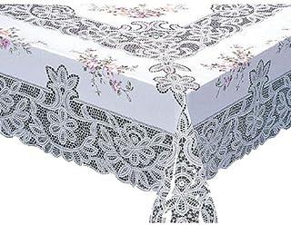 MEIWA 桌布(1件) MG印花蕾丝系列 玛丽娜 135cm×180cm 玫瑰色