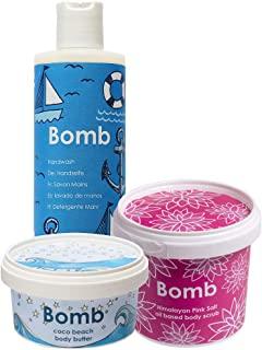 Bomb Cosmetics Shore Thing 清洁、去角质和保湿沐浴套装