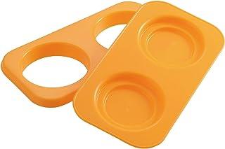 曙产业 饭团模具 圆形 橙色 日本制造 不握饭团 可制作大量食物的三明治 不弄脏手也不会弄脏手 双层压纹加工 不粘着 用砂锅 WE-959