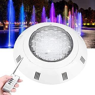 LED 水下灯,防水 IP68 水下池塘灯,带 300 个 LED 灯泡,30W 多色 RGB 灯,带遥控器,适用于游泳池、水族馆、花园池塘、池塘、喷泉瀑布