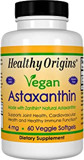 Healthy Origins Astaxanthin Supplement, 4 mg, 60 Count