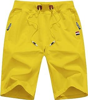 QPNGRP 男士休闲短裤拉链口袋弹性腰带