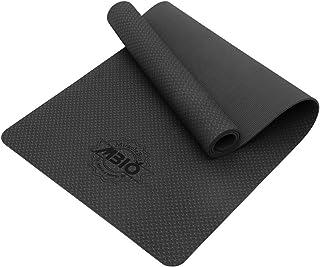 MBIO 瑜伽垫 厚 1/4 英寸 宽 26 英寸 长 72 英寸 TPE 防滑瑜伽垫 适用于女士 夫妇颜色选项 带肩带和袋 普拉提健身和地板锻炼 SGS 认证