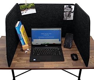 声学分隔器 - 家庭办公室独立式 - 课堂 - 教学收纳盒 - 办公桌空间工作台 - 测试中心 - 降噪 - 电脑桌(黑色)