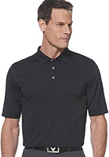 Callaway 男式基本款短袖 Opti-Vent 开放式网眼高尔夫衫