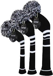 Scott Edward 高尔夫球杆头套 适用于木材和高尔夫球杆 3 件套 *可爱的球球杆 贴合杆杆木 (460cc) 球道木杆和混合杆 (UT) 高尔夫球包的完美改变