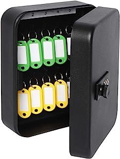 """带组合锁的*钥匙盒,Decaller 钥匙柜壁挂式锁盒,带 20 个挂钩,7 4/5"""" x 6 1/5"""" x 2 4/5"""""""