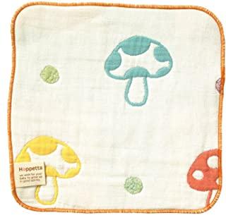 Hoppetta 蘑菇图案 蓬松纱布(6层纱布) 手帕