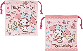 Skater 斯凯达 带贴布袋 便签 My Melody 零食时间 三丽鸥 日本制造 2枚套装 KB64WN
