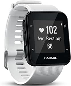 Garmin 佳明 Forerunner 35 GPS 跑步手表,基于腕表的心率和锻炼,白色(玫瑰红)