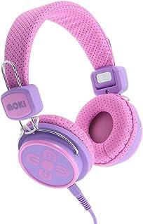 Moki ACCHPKSPP Kid Safe Volume Limited Headphones, Pink/Purple