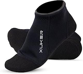 NeopSkin 氯丁橡胶袜 3 毫米沙滩排球沙足球潜水服袜水靴适用于潜水冲浪浮潜皮划艇漂流帆船划船,低帮