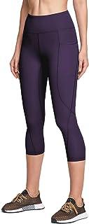 ATIKA 女式高腰瑜伽裤,带口袋,收腹瑜伽裤,4 向弹力锻炼跑步紧身裤