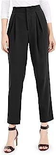 Bar III 女式高腰百褶正装裤