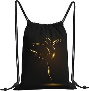Golden Ballerina 体操背包包 沙滩包 健身 购物运动 舞蹈 旅行 瑜伽 体操 男士 女士