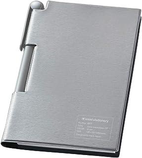 kleid 备忘录 硬质便签&笔RF 2mm方格 银色 8942