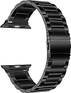钛表带适用于 Apple Watch 系列 6 / SE 44 毫米 42 毫米,TRUMiRR 钛钢金属表带男士替换表带适用于 iWatch Apple Watch SE 系列 6 5 4 3 2 1 44 毫米 42 毫米