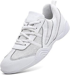 DADAWEN 女式运动训练白色啦啦队鞋