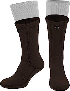 281Z *保暖 8 英寸靴子内衬袜 - 户外战术徒步运动 - Polartec 抓绒冬季袜子(棕色熊)