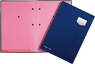 Pagna 签字文件夹 de Luxe 10 件,带高品质塑料封面,弹性背部,粉色灭火纸板