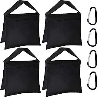 4 包套装重型沙袋摄影工作室重量包马鞍包设计适用于摄影工作室支架、后院、户外庭院、运动摄影支架灯架三脚架、照片套装、现场制作