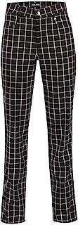 GOLFINO St Blue Checked 7/8 高尔夫裤,弹性特性 - 女士