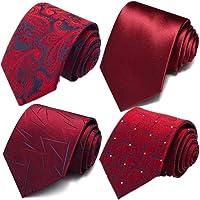 Weishang 6 件装男式经典商务领带丝绸领带编织提花领带