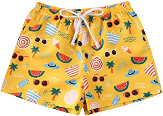幼儿男童游泳裤速干沙滩短裤卡通游泳短裤幼儿男孩泳装泳衣
